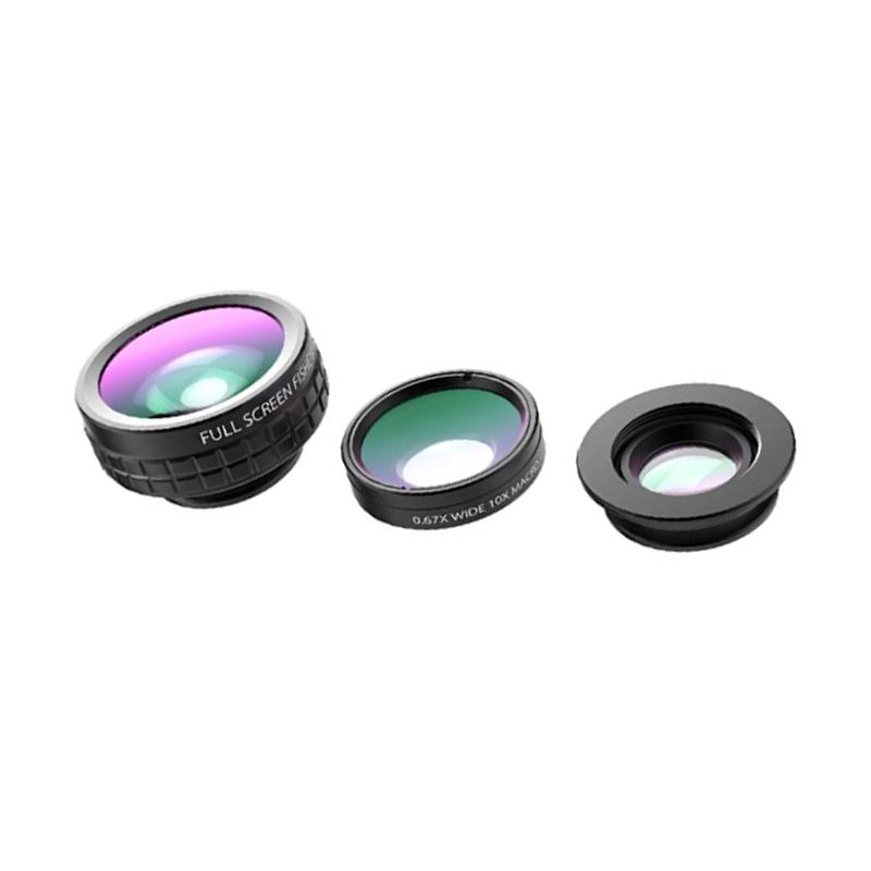 Aukey PL-A6 Optic 3in1 Wide Angle Lens + 10x Macro Phone Camera Lens