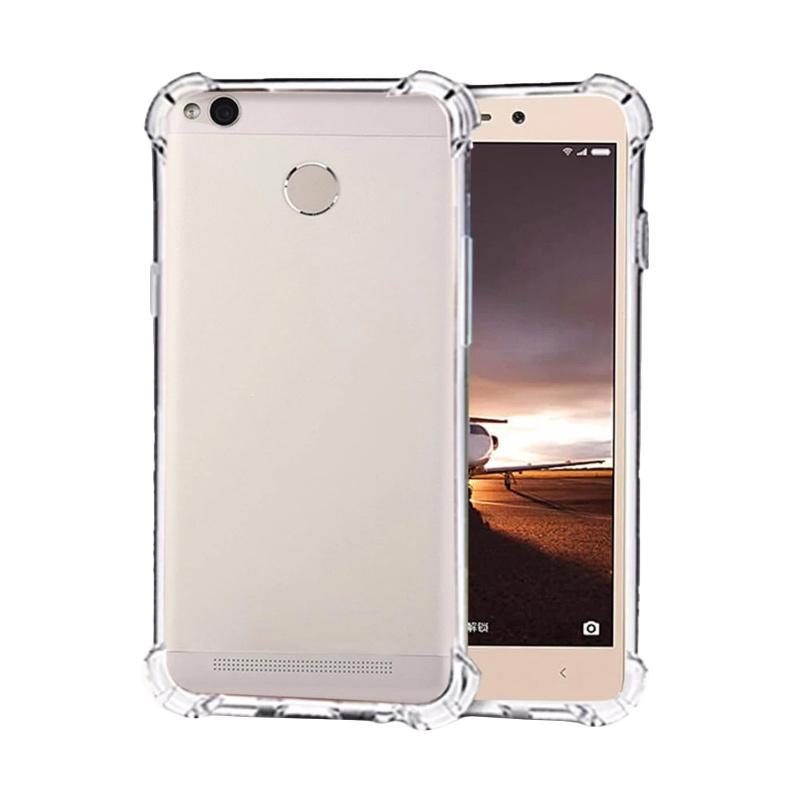 QCF Softshell List Anti Shock Anti Crack Ultrathin Softcase Casing for Xiaomi Redmi 3S - Transparan