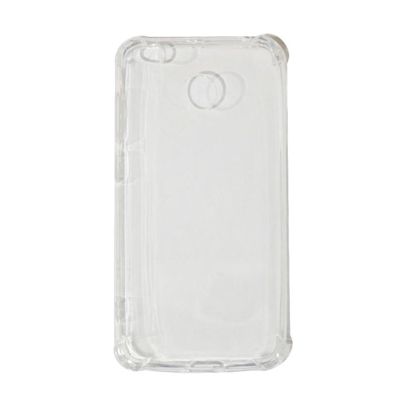 QCF Softshell Softcase List Anti Shock Anti Crack Ultrathin Casing for Xiaomi Redmi 4X - Transparan
