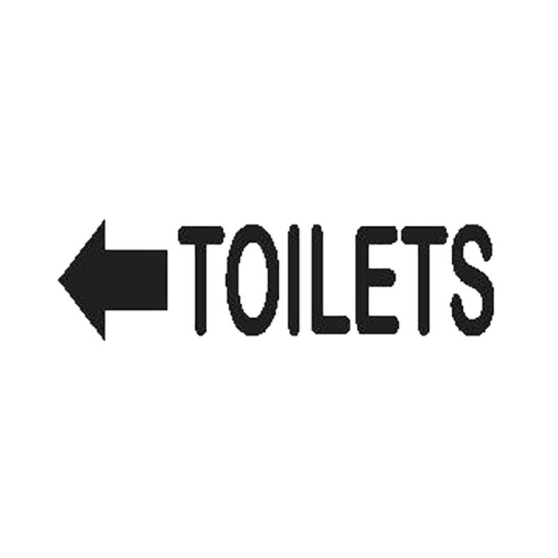 Epinidithouse Petunjuk Arah Toilet Sign Kamar Mandi Hotel Restoran Kantor Wall Sticker Dekorasi