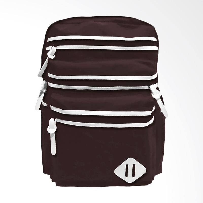 Bag & Stuf Oxfordia Casual Tas Ransel - Coklat