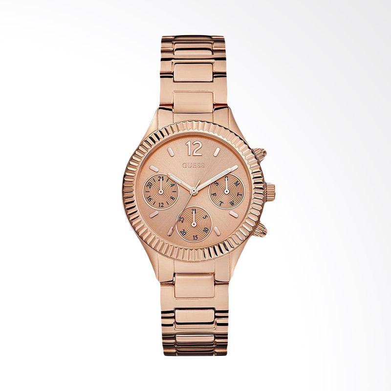 GUESS U0323L3 Women Multi-Function Rose Gold Dial Stainless Steel Watch Jam Tangan Wanita - Rose Gold
