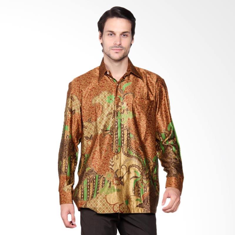 Batik Heritage Exclusive Linen Mega Mendung Kemeja Panjang Pria - Yellow
