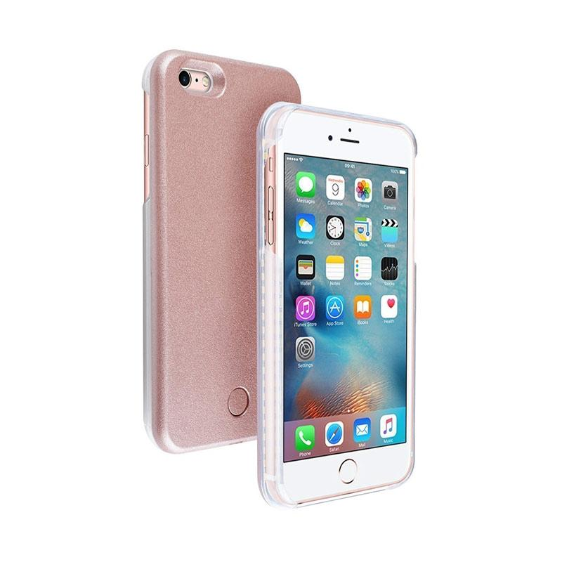 28fashion Selfie and Emergency Signal Lamp LED Light Casing for iPhone 6 or iPhone 6S - Rose Gold