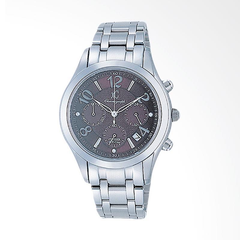 Citizen Chrono Stainless Steel Jam Tangan Pria - Black Silver AN8000-59Z xC