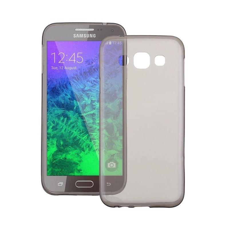Ume Ultrathin Silicone Jelly Softcase Casing for Samsung Galaxy E5 E500 - Hitam