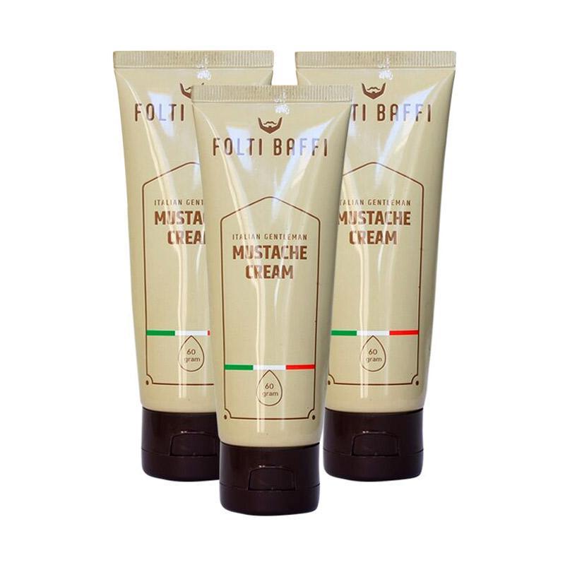 Folti Baffi Mustache Cream 3 Tube Paket Obat Penumbuh Jambang