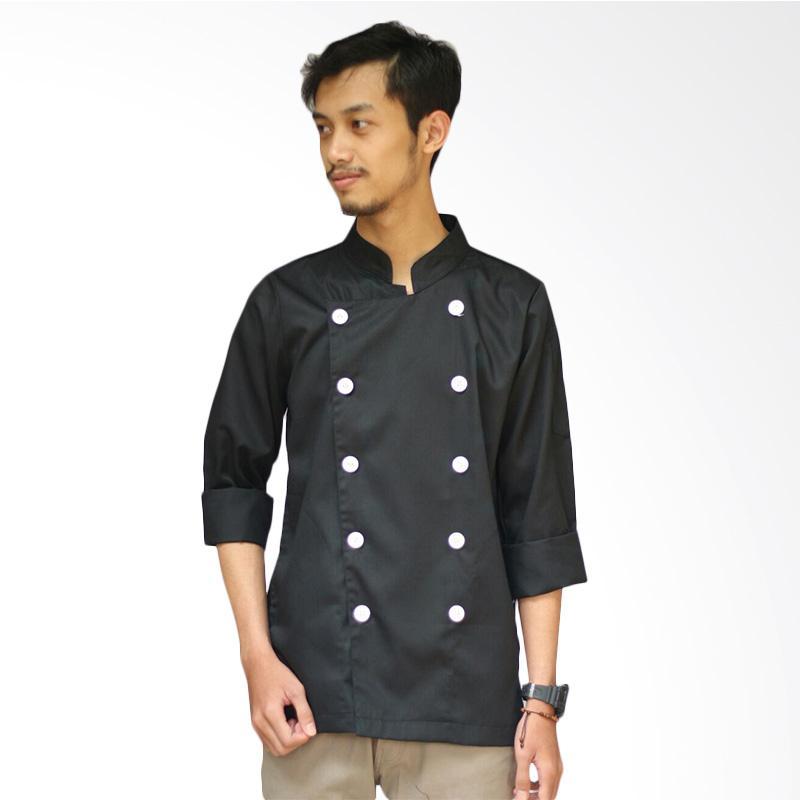 Malika Baju Chef Lengan Panjang - Hitam [Size L]