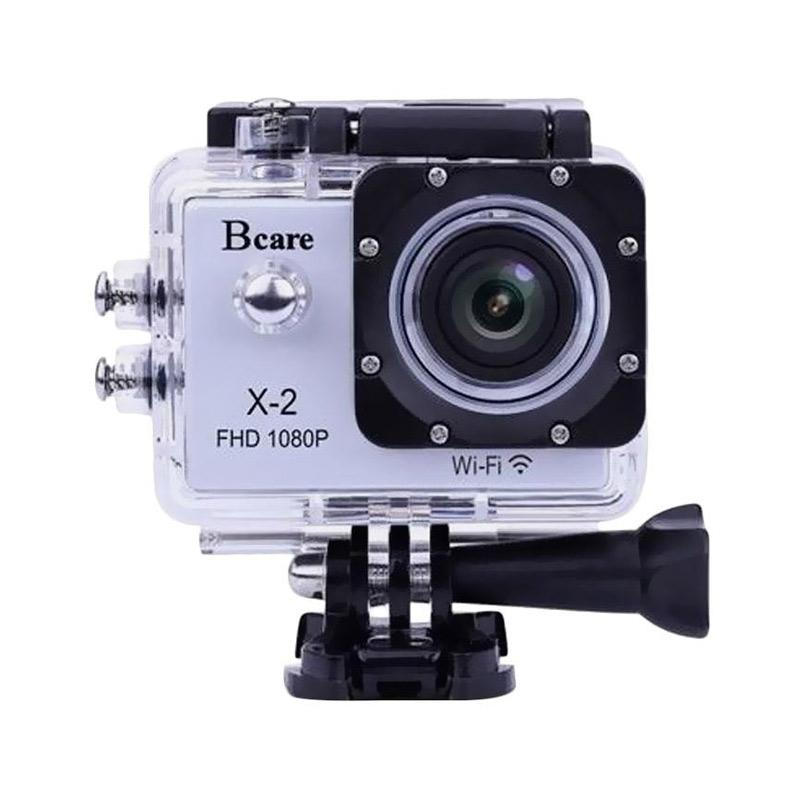 Bcare Bcam X2 Action Camera with Watercase 30M and All Mounting [12 MP/Wifi]