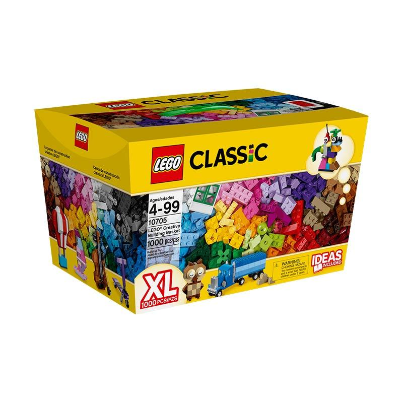 LEGO Classic 10705 Creative Building Basket Mainan Blocks