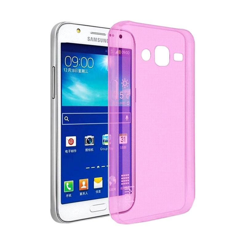 Ume Ultrathin Silicone Jellycase Softcase Casing for Samsung Galaxy J7 Core - Pink