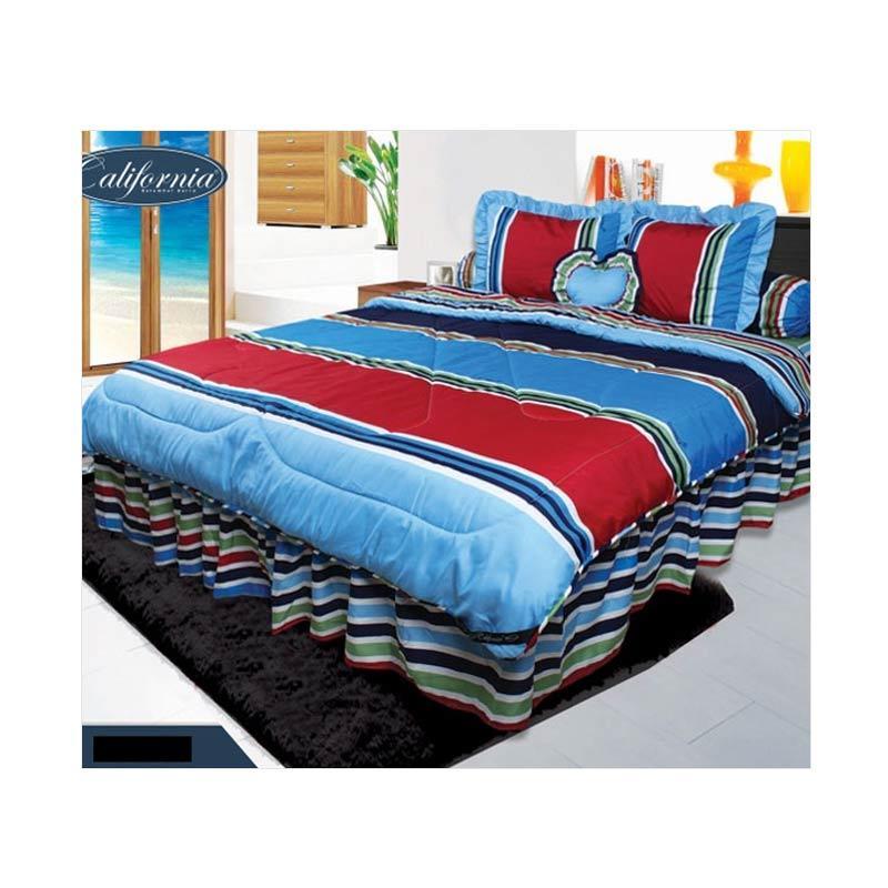 California Motif Calico Set Sprei dan Bed Cover [180 x 200 cm]