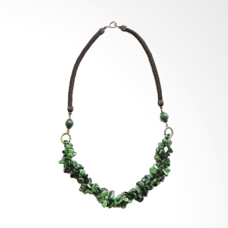 Advaya Jewel Batu Hijau Tumpuk Kalung Wanita - Green
