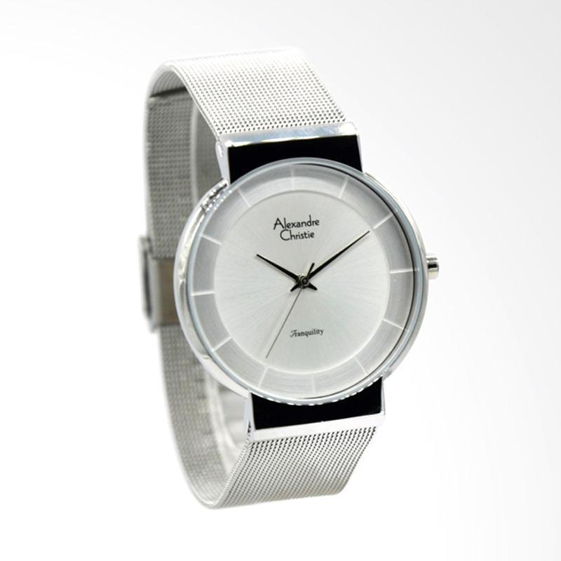 Alexandre Christie AC 8523 Jam Tangan Wanita - Silver White