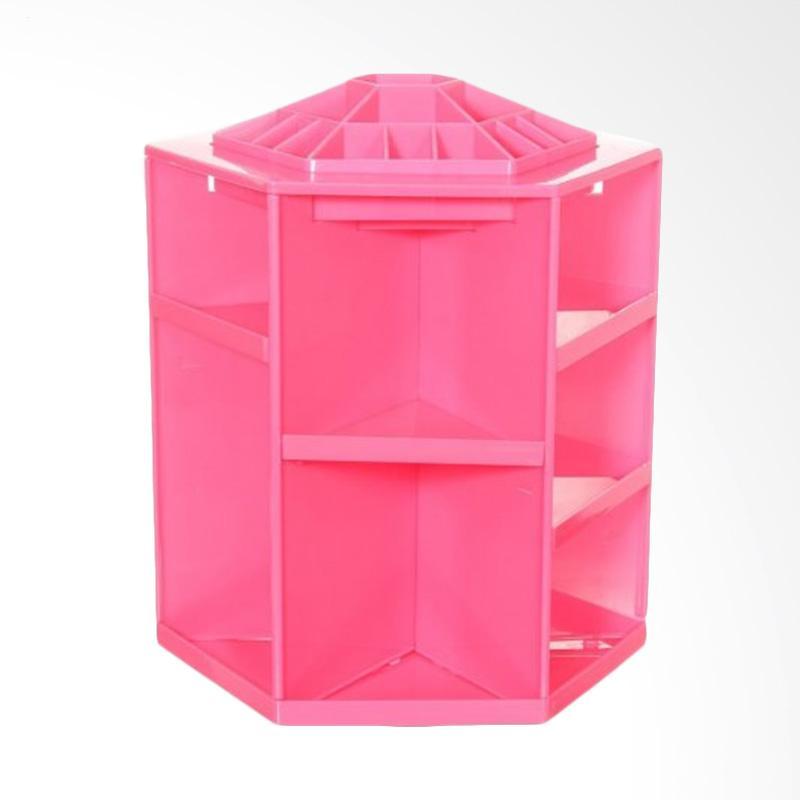 harga Mixiuer Rak Kayu Putar Kosmetik Organiser - Pink Blibli.com