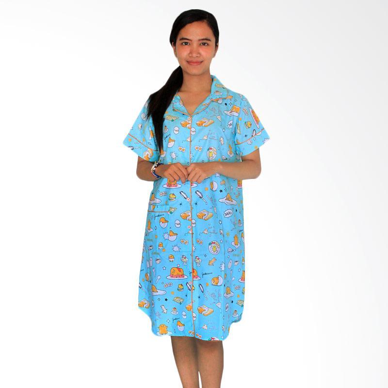 Aily  513 Katun Jepang Printed Daster Wanita - Biru