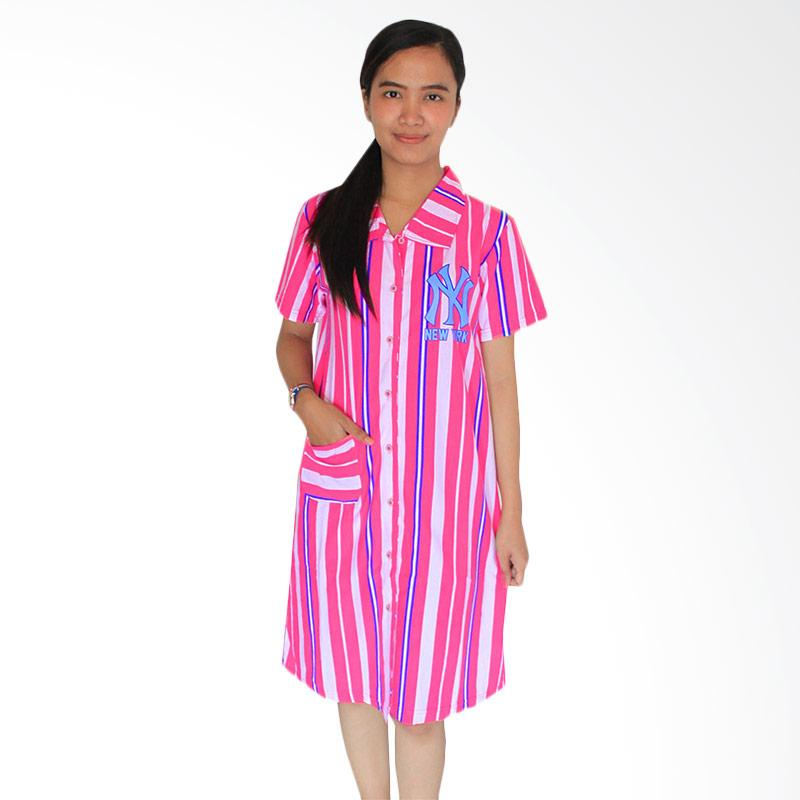 Aily 340 Katun Printed Daster Wanita - Pink