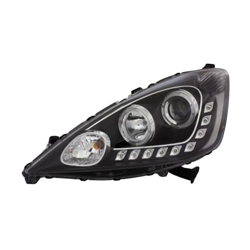 Eagle Eyes HD582-B7WCW-BH Projector Headlamp Starline Lampu Depan Mobil for Honda Jazz 08-10 - Black Housing