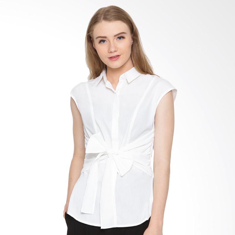 A&D Fashion Ms 985 Sleeveless Blouse Atasan Wanita - White