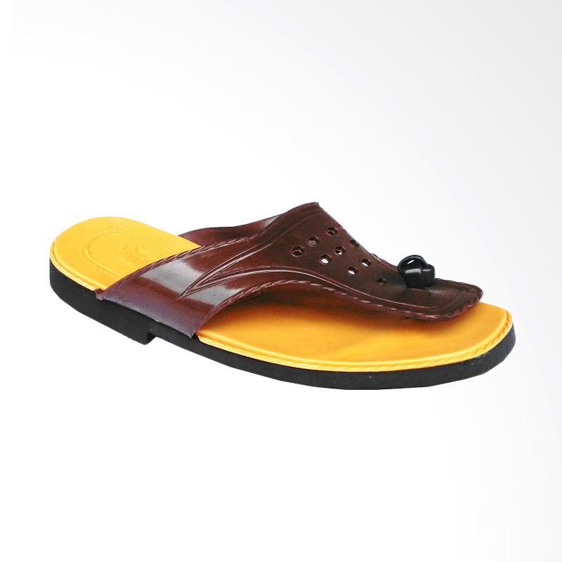 HQo Lily Japit Si Pitung Klasik Sandal Pria - Coklat Tua