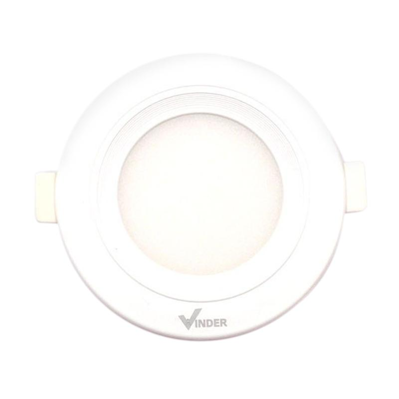 Vinder Slim Downlight Panel Round Lampu - White [3W/6500 K]