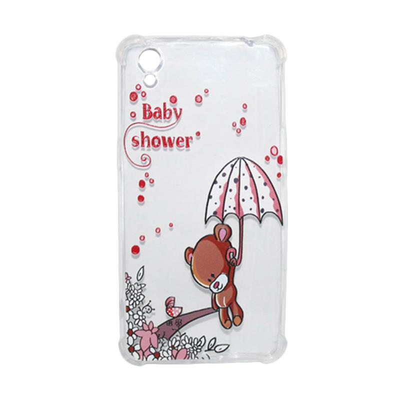 ... QCF Softcase Anti Crack Anti Shock Silicone Case Gambar Bear Baby Shower FREE Bumper Karet