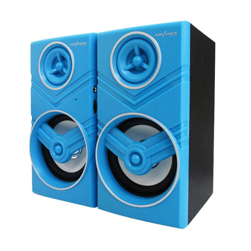 Advance Duo-080 USB Speaker Komputer with Volume Control - Biru