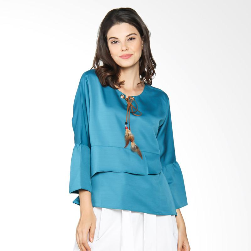 Jening Batik WMS JBW021 Blouse Atasan Wanita - Tosca