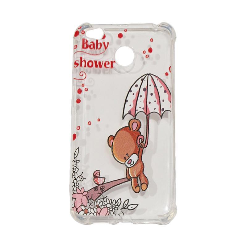 QCF Softcase Anti Crack Anti Shock Xiaomi Silicone Casing Gambar Bear Baby Shower + FREE Bumper Karet Animasi Random for Xiaomi Redmi 4X