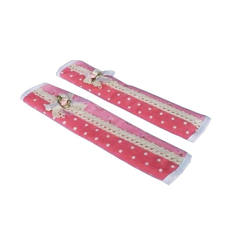 Tren-D-Home Dot Pita Fridge Handle Cover Kulkas - Pink [28  x 15.4 cm]