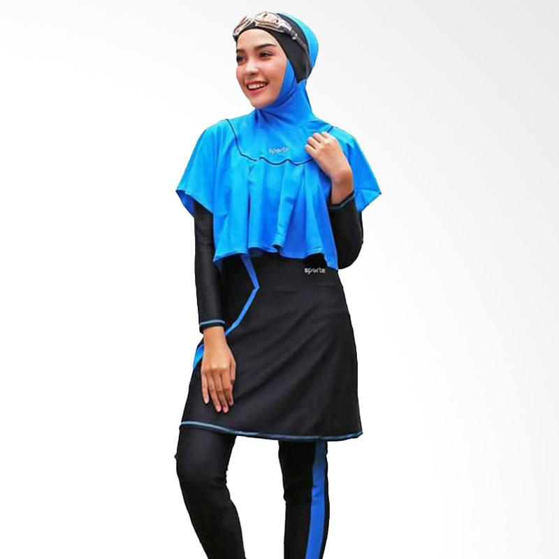 SPORTE Baju Renang Muslimah - Hitam Biru [SR 11]