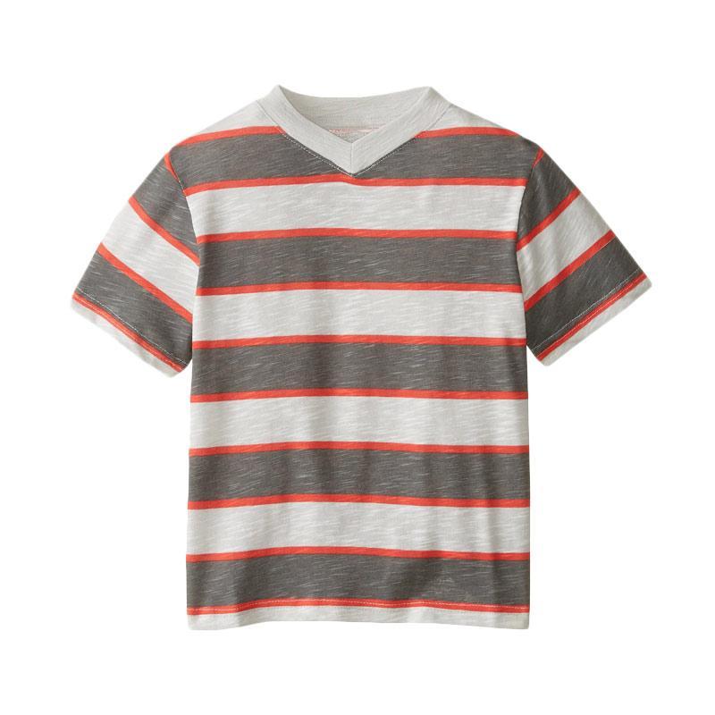 harga C-Life CL-03 Kaos V Neck Motif Strip Mix Color Baju Atasan Anak Blibli.com