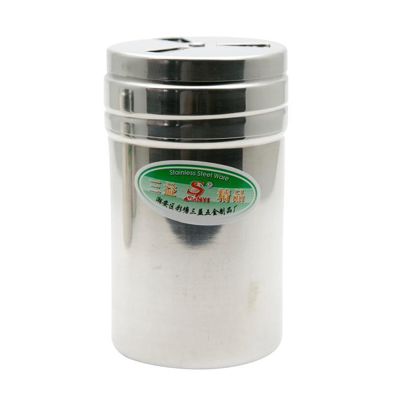 HAN Tempat Bumbu/Tusuk Gigi Stainless Medium L017 - Perak