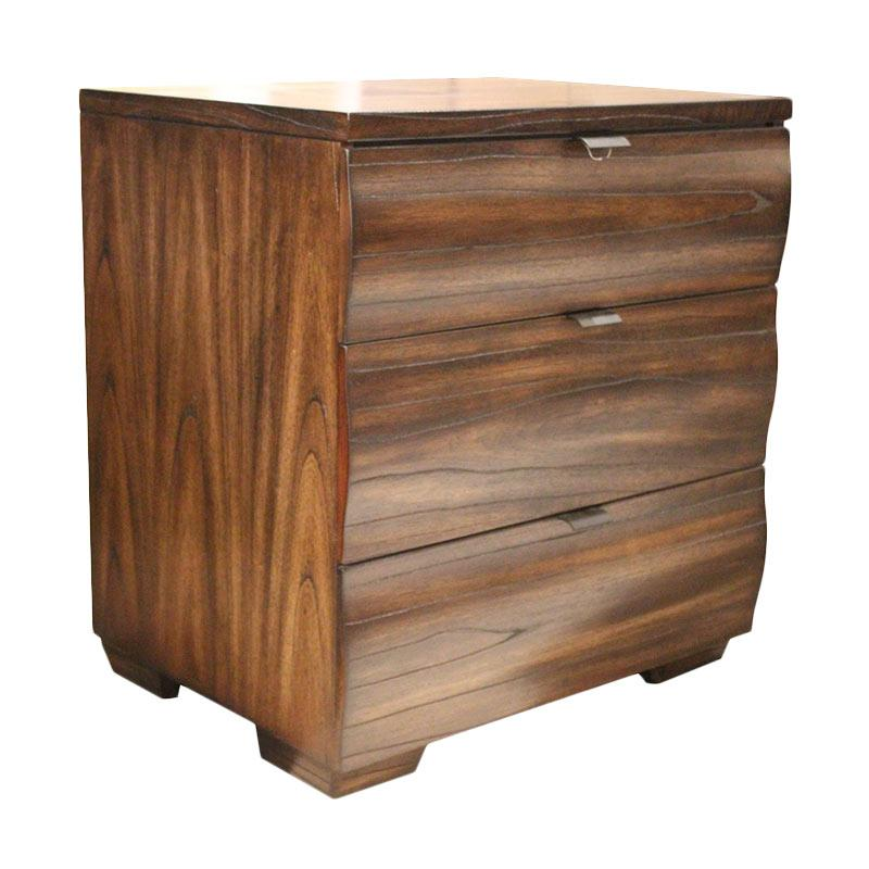 Thema Home 0904 Night Stand Frankfurt Bedside Tables - Chocolate