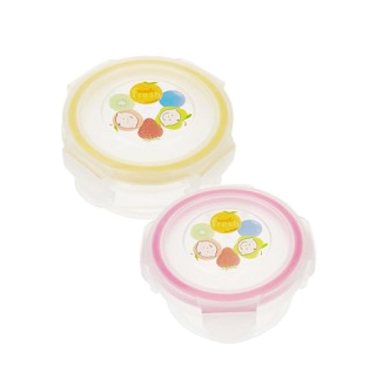 Innobaby Keepin Fresh Stage 1 Round Peralatan Makan - Pink Yellow