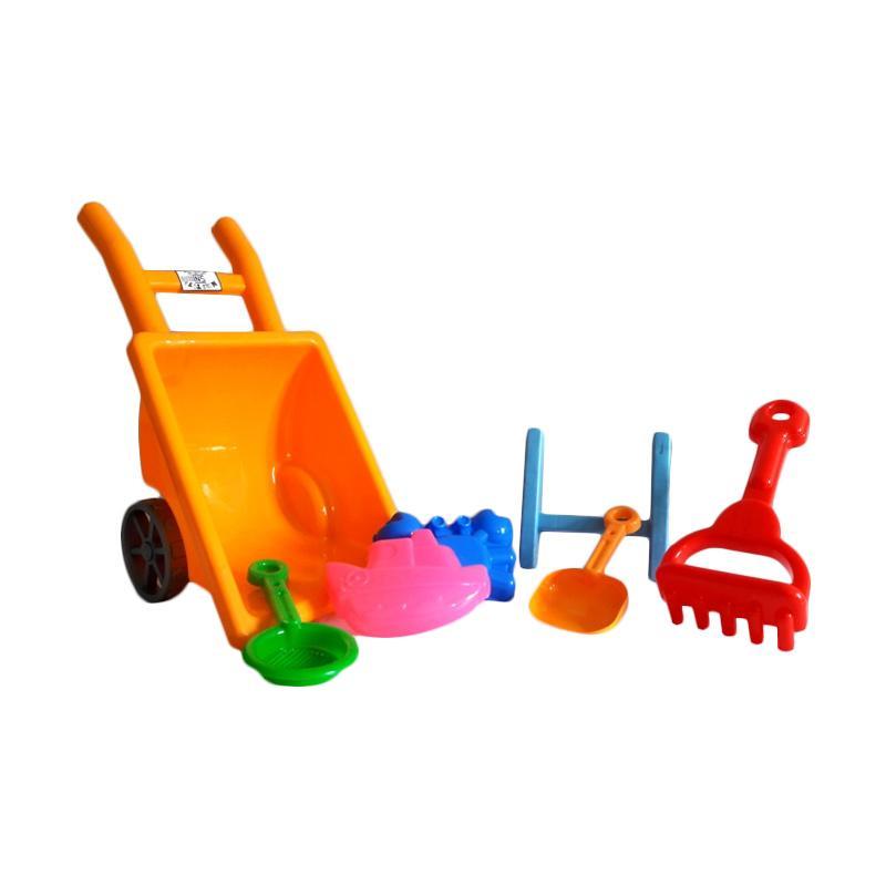 harga Mikiwa Set Gerobak Mini Mainan Pantai - Multicolor Blibli.com