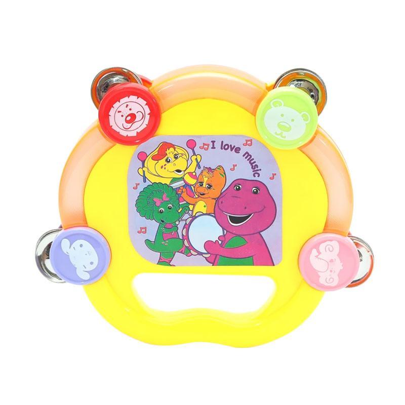 Happy Toon Barney Tambourine Permainan Musikal