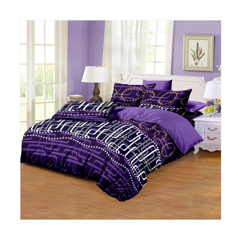 Monalisa Motif Viola Disperse Set Sprei - Purple