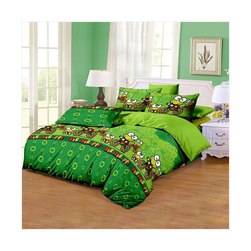 Monalisa Motif Keropi Disperse Set Sprei - Green