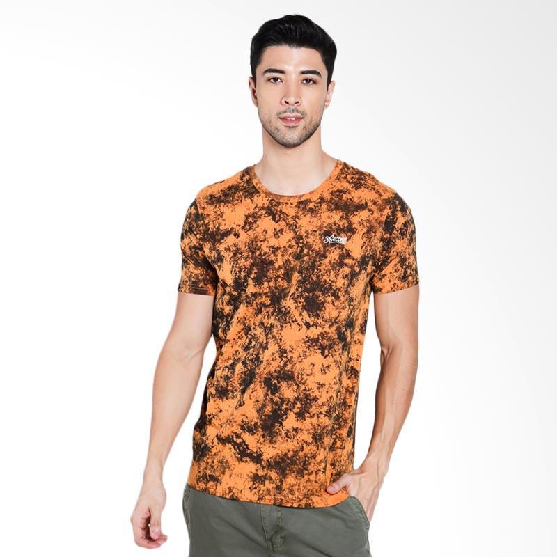 3SECOND Men 1412 T-Shirt Pria - Yellow