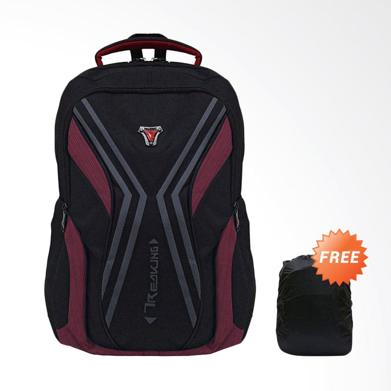 Bag & Stuff Criciano Laptop 14 Inch Backpack Pria with Raincover - Maroon