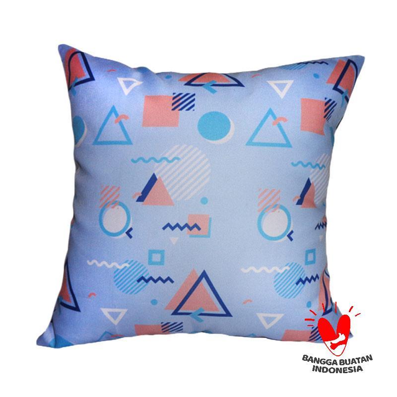 Pasifis Sarung Bantal Sofa - Biru [40 x 40 cm]
