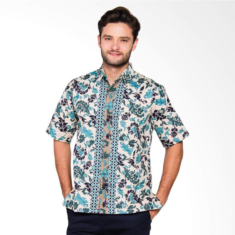 Adiwangsa Model Modern Slim Fit Baju Kemeja Batik Pria [001]