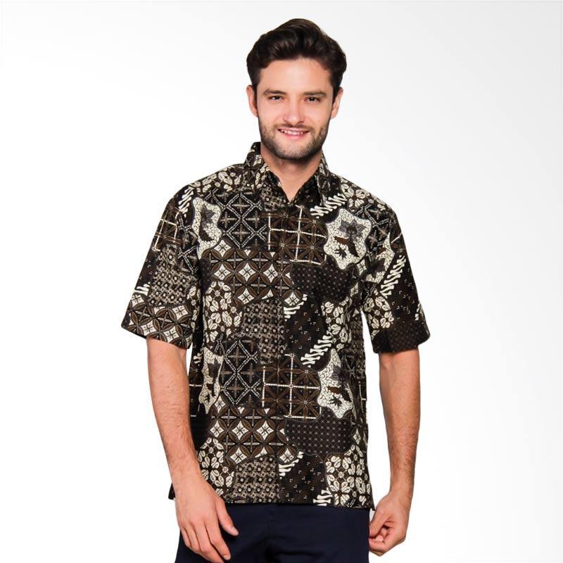 Adiwangsa Model Modern Slim Fit Baju Kemeja Batik Pria [017]