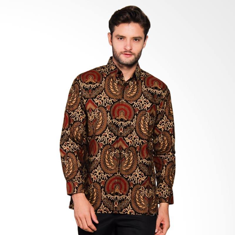 Adiwangsa Model Baju Slim Fit Kemeja Batik Modern Pria [030]