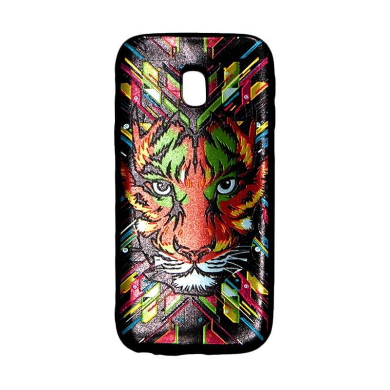 QCF Softcase Luxo Rimba Casing Gambar Tiger Harimau Silicone for Samsung Galaxy J3 Pro J330 2017