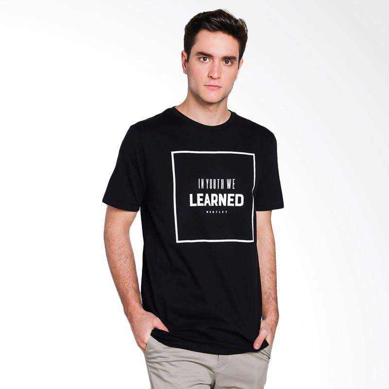 Moutley Male T-Shirt Atasan Pria - Black [4511 345111712]