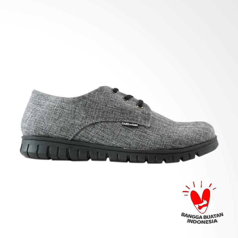 Dane And Dine Kreya Sepatu Sneaker Pria - Grey