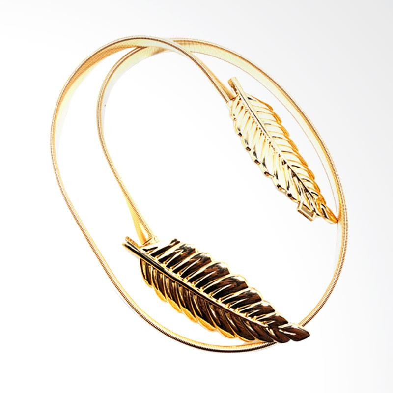 Solidex Flexible Belt Ikat Pinggang Wanita [Gold]