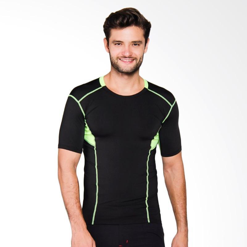 Zcoland Fast Dry Sport Kaos Olahraga Pria - Black [Z1K002]